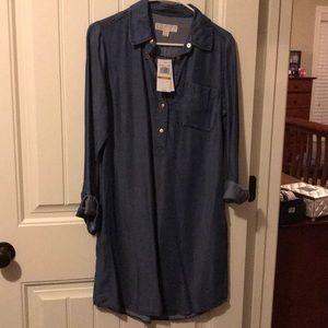 NWT Michael Kors Jean shirt dress
